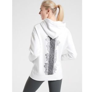 Rose Lace Tunic Hooded Sweatshirt from Athleta
